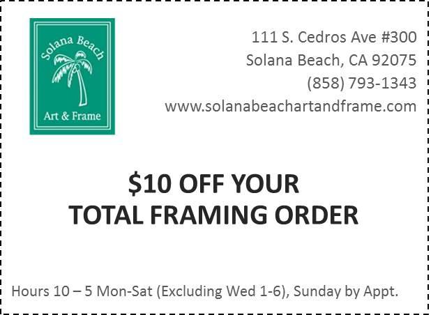 Solana Beach Art & Frame Coupon
