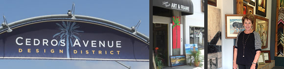 Cedros Avenue Design District, Solana Beach Art & Frame, Carol Temple